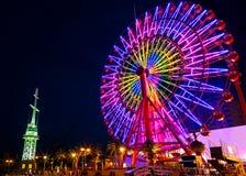 Ferris koło przy portem Kobe Fotografia Stock