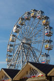 Ferris koło z flaga Zdjęcie Royalty Free