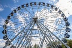 Ferris koła radości nieba park rozrywki Zdjęcia Stock
