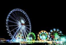 Ferris no festival na noite Foto de Stock