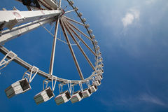 Ferris or observation big wheel against blue sky Royalty Free Stock Photography