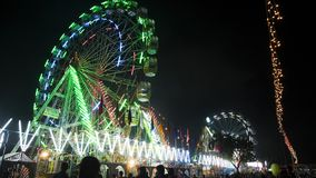 Ferris катит внутри ярмарку верблюда Pushkar, Pushkar, Стоковая Фотография