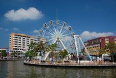 Ferris roda dentro a cidade de Malacca Foto de Stock Royalty Free