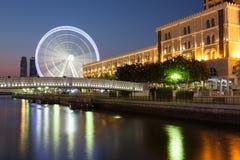 Ferris roda dentro a cidade de Sharjah Fotografia de Stock