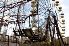Ferris roda dentro a cidade fantasma de Pripyat, Chernobyl imagens de stock royalty free