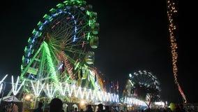Ferris roda dentro a feira do camelo de Pushkar, Pushkar, Fotografia de Stock