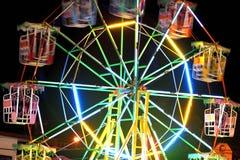 Ferris roda dentro a feira do templo, Tailândia Imagem de Stock Royalty Free