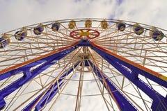 Ferris roda dentro a Luna Park Imagem de Stock