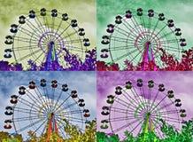 Ferris roda dentro o estilo do pop art fotografia de stock royalty free