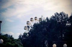 Ferris roda dentro o parque da cultura Yoshkar-Ola 2018 foto de stock royalty free
