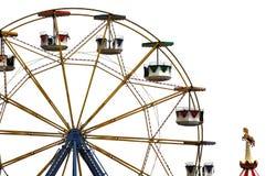 Ferris roulent dedans le parc d'attractions Images stock