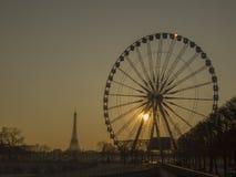 Ferris roulent dedans Paris Photos stock