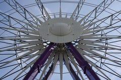 Ferris spinge dentro un parco di divertimenti Zurigo, Svizzera 21 gennaio 2007 Immagine Stock Libera da Diritti