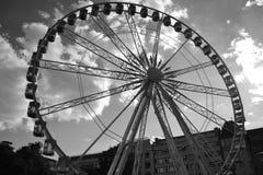 Ferris toczy wewnątrz Budapest obrazy royalty free