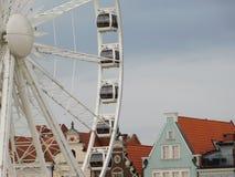 Ferris toczy wewnątrz Gdańskiego Obraz Royalty Free