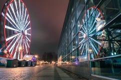 Ferris toczy wewnątrz parka, Kharkov obraz royalty free
