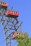 Ferris toczy wewnątrz Wiedeń, Austria Obraz Stock
