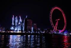 Ferris well london eye. London eye river royalty free stock photos