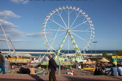 Ferris whee. Festival of April, Barcelona royalty free stock images