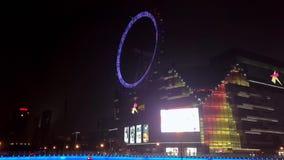 Ferris-wheelï ¼ ŒSHANGHAI durch Zeitversehen stock footage
