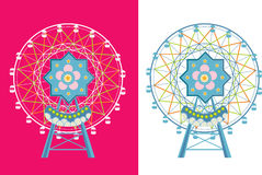 Ferris wheel. An abstract illustration of a Ferris wheel Royalty Free Stock Photo