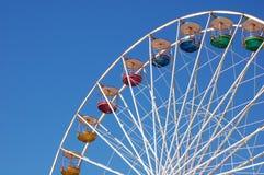 Ferris wheel. A ferris wheel with a clear blu sky as background stock photo
