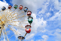 Ferris wheel. On a background of the sky Stock Photo