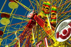 Ferris Wheel. Carnival ride at an outdoor midway - calgary stampede royalty free stock photo