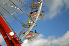 Ferris Wheel. And blue sky at the fair Royalty Free Stock Image