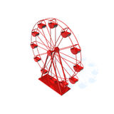 Ferris wheel. On white background Stock Photos