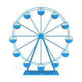 Ferris wheel. On white background Royalty Free Stock Images