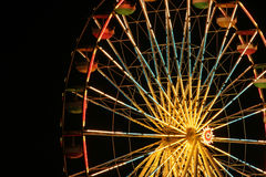 Ferris wheel. Shot of a ferris wheel lit up at night during the Erie County Fair in New York stock image