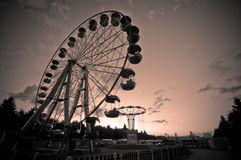 Ferris wheel. At the sunset Royalty Free Stock Photography