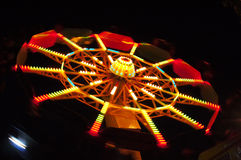 Ferris wheel. Abstract view of a colourful ferris wheel at night Royalty Free Stock Photography