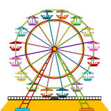 Ferris wheel. Colorful ferris whell isolated over white background Stock Image