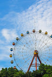 Ferris wheel. Park there will always be Ferris wheel, it was built in the highest place, people enjoy the scenery above stock images