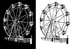 Ferris Wheel vector illustration