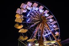 Ferris wheel. Night shot of Ferris wheel in amusement park Stock Image