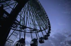 Ferris Wheel. Against dark night sky Royalty Free Stock Image
