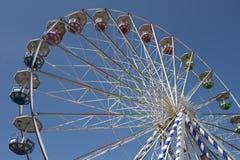 Ferris wheel. Big ferris wheel on blue sky background Stock Photography