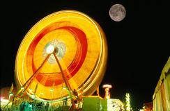 Ferris Wheel Amusement Ride Full Moon Royalty Free Stock Photography