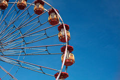 Ferris wheel. And blue sky in Zurich royalty free stock images