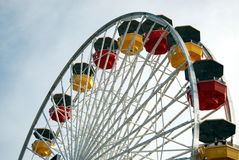 Ferris Wheel. On Santa Monica Pier in California Royalty Free Stock Photos