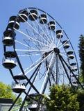 Ferris wheel. Or big wheel at funfair fairground stock image