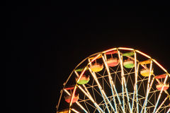 Ferris wheel 2. A cropped shot of a ferris wheel lit up at night during the Erie County Fair in New York Stock Images