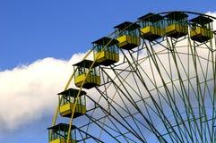 Ferris wheel. On blue sky royalty free stock photography