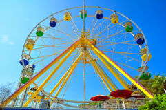 Ferris wheel. With sky background at ocean park, hong kong stock photo