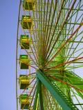 Ferris wheel. Green ferris wheel in Santiago de Compostela Royalty Free Stock Images