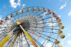 Ferris wheel. With blue sky Stock Photo