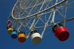 Ferris wheel. With colorful passenger capsules Stock Image